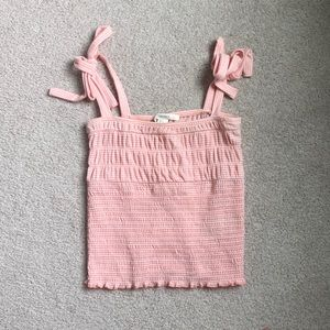 Forever 21 pink gingham crop top